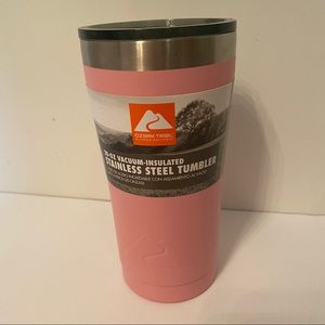 OZARK TRAIL NEW STAINLESS STEEL TUMBLER 20 OZ PINK